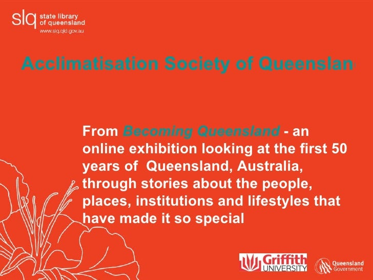 From  Becoming Queensland  - an online exhibition looking at the first 50 years of  Queensland, Australia, through stories...