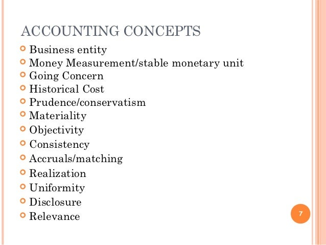 accounting concepts with examples