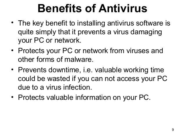 The advantages and disadvantages of Anti-virus software | Science online