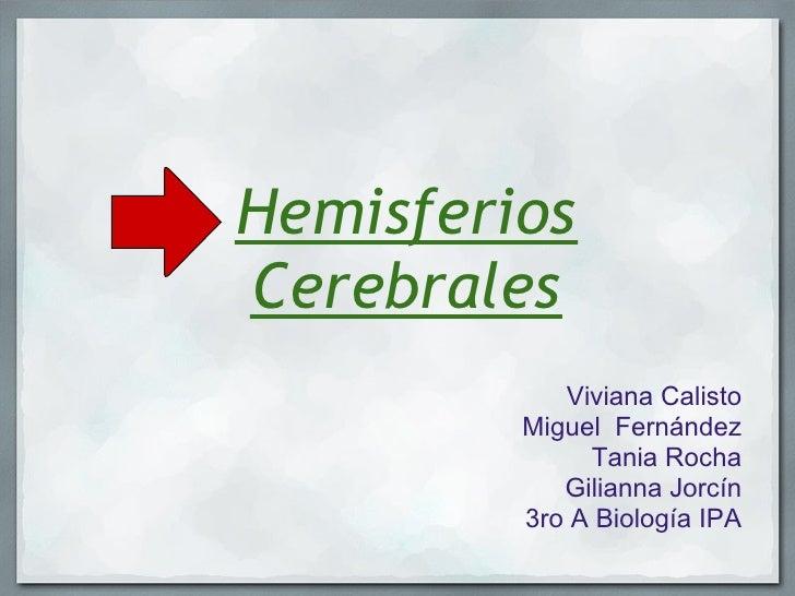 HemisferiosCerebrales            Viviana Calisto         Miguel Fernández              Tania Rocha            Gilianna Jo...