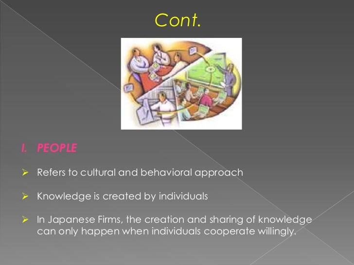 Cont.<br />PEOPLE<br /><ul><li>Refers to cultural and behavioral approach