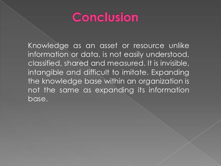 Tacit Knowledge and Explicit Knowledge<br />