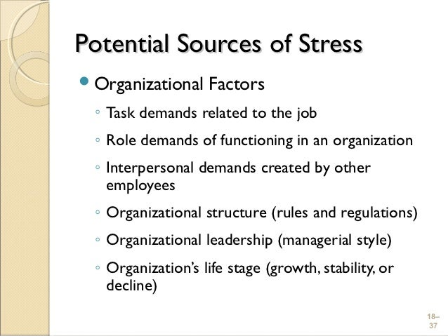 organizational change and stress Robbins and judge: organizational behavior 15th edition taught @ george washington university: emse 6005--organizational behavior.