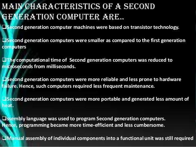 Of pdf characteristics computer