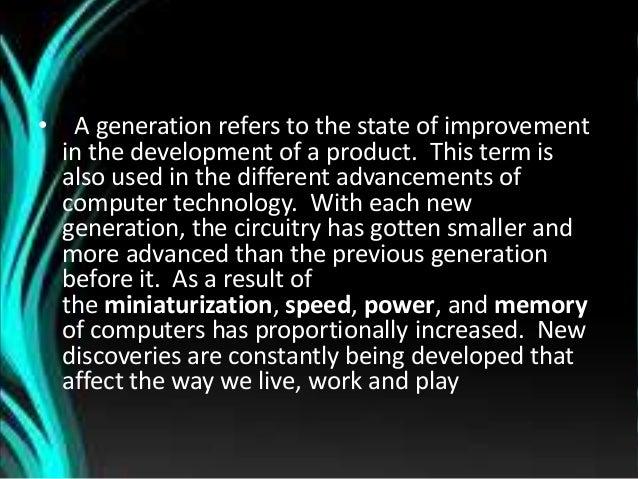 GENERATION OF COMPUTERS. Slide 3