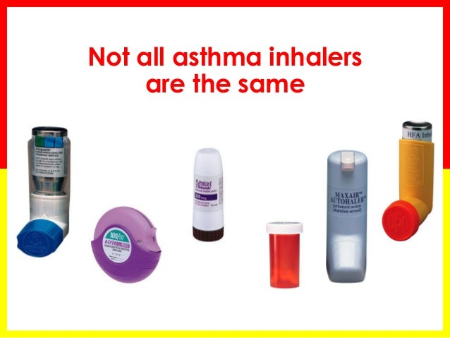 types of inhalers and how to use them