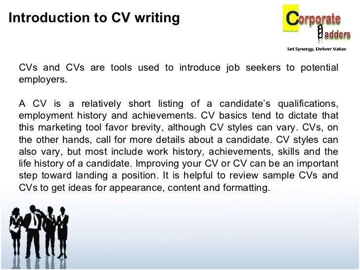 copy of cv writing
