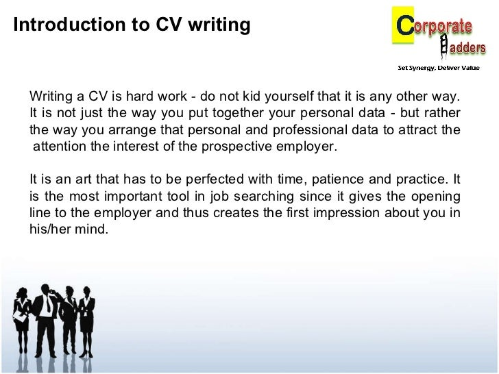 how to write your first cv