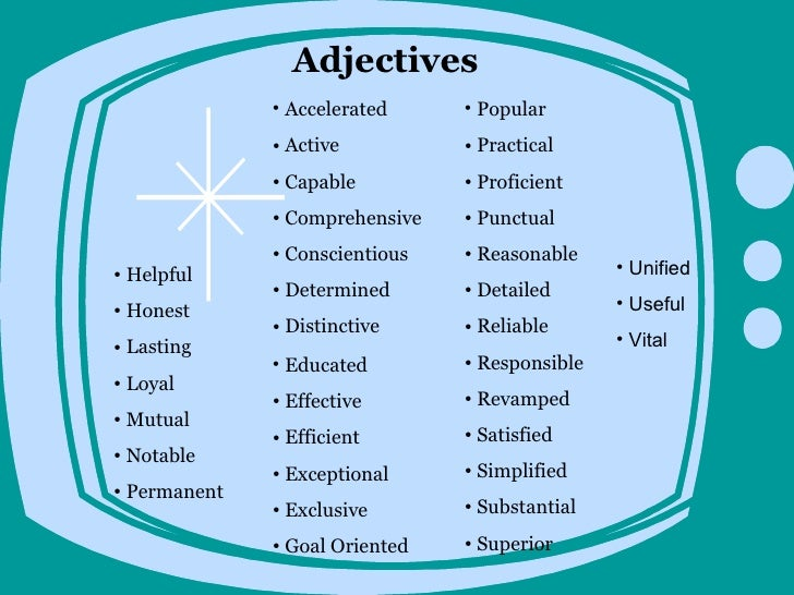 beautiful adjectives for a resume images simple resume office - Adjectives For Resumes