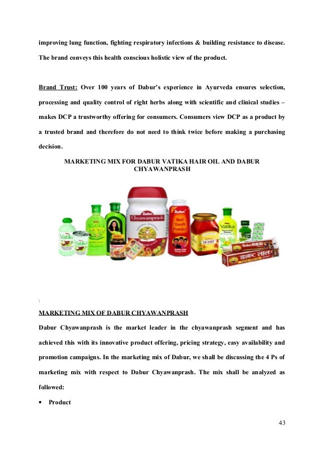 marketing mix of dabur chyawanprash Dabur chyawanprash dabur chyawanshakti glusose d digestives hajmola yumstick hajmola mast masala anardana hajmola hajmola candy hajmola candy fun 2 pudin hara pudin hara g dabur hingoli marketing mix [pic] pricing strategy.