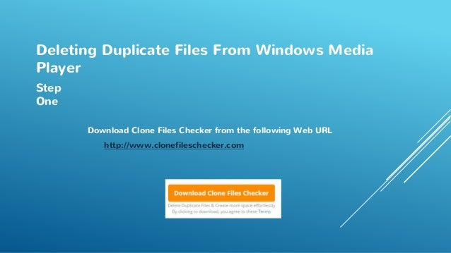 how to remove duplicate files in windows media player