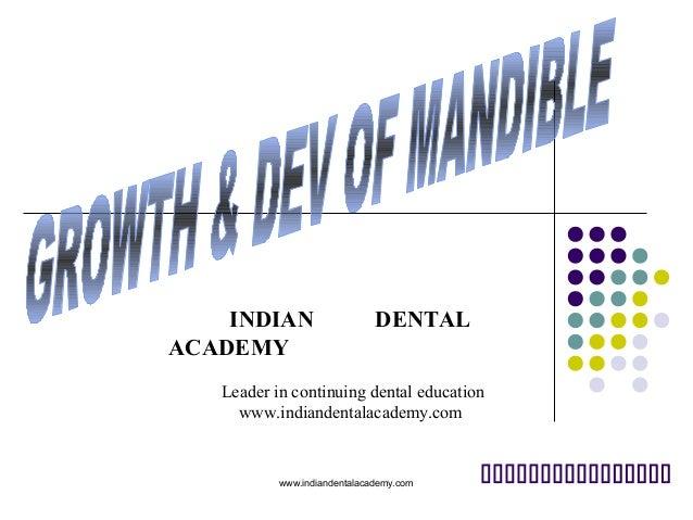 INDIAN ACADEMY  DENTAL  Leader in continuing dental education www.indiandentalacademy.com  www.indiandentalacademy.com  ...