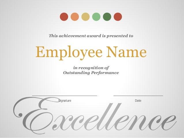 employee award certificates