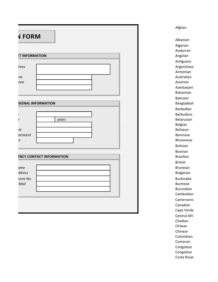 Copy Of Employee Registration Form