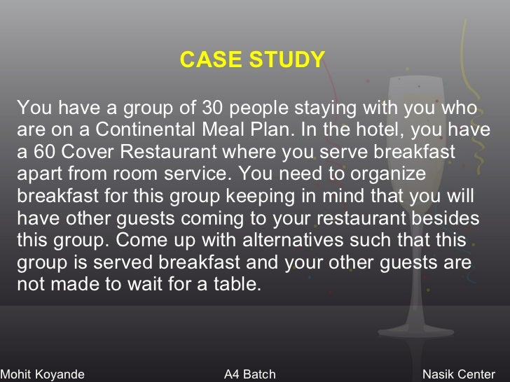 conclusion and recommendation restaurant case study Case study recommendations mcdonald's should make use of its strength of innovation to adapt itself more effectively to  mcdonald's with restaurant in.
