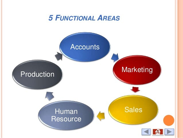 functional areas of a business 'how do the main functional areas of a business interact and contribute to its effective management'the main functional areas of a business are marketing, human resource, finance.