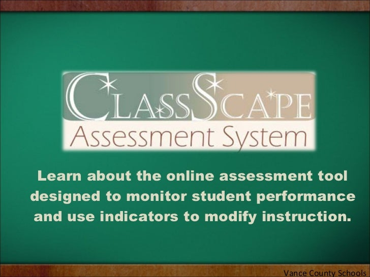 Learn about the online assessment tool designed to monitor student performance and use indicators to modify instruction. V...