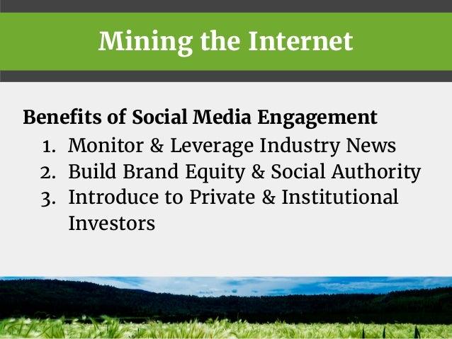 Social Media Strategies for Green Energy Mining Companies Slide 2