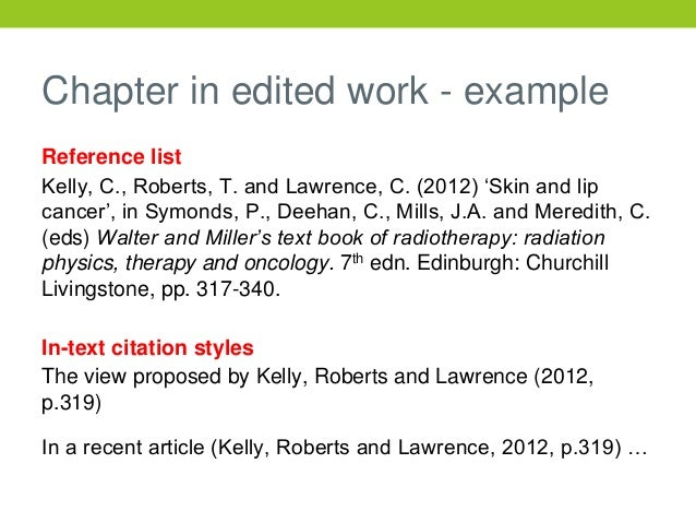 Ucs harvard referencing chapter in edited work example reference ccuart Images