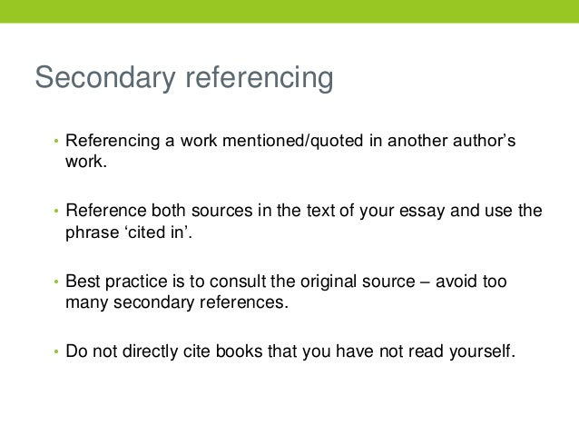 secondary source for essay