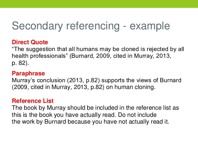 referencing example in essays