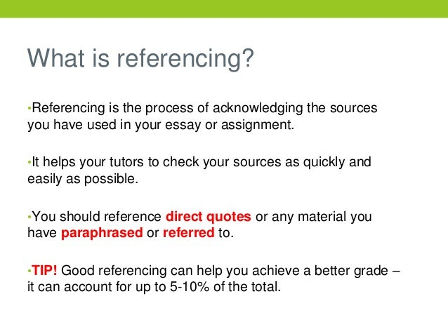referencing examples in essays
