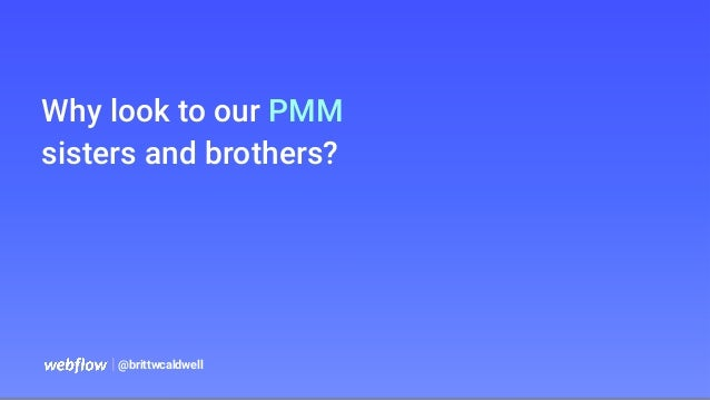   @brittwcaldwell Why look to our PMM sisters and brothers?