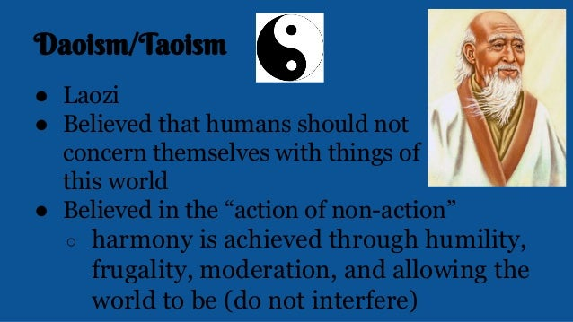 non action of laozi Daoism (taoism) is a way of life  laozi (lao tsu)  wu-wei which literally means non-action is one of the basic concepts in daoism (taoism) to daoist.