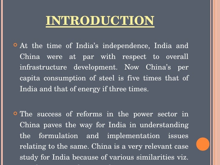 case study on india china infrastructure