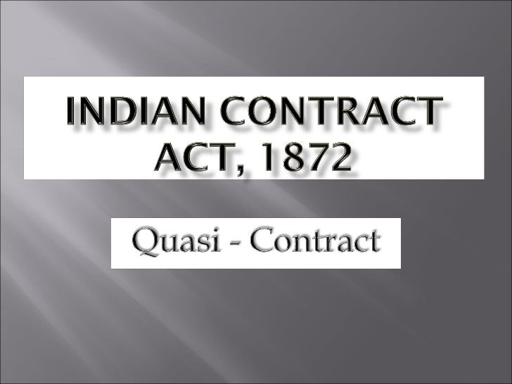 minor s contract a critical analysis of the indian contract act 1872 Prepared by: mandar vaidya, advocate-high court indian contract act 1872 contracts the law on contracts is one of the oldest form of legislations.