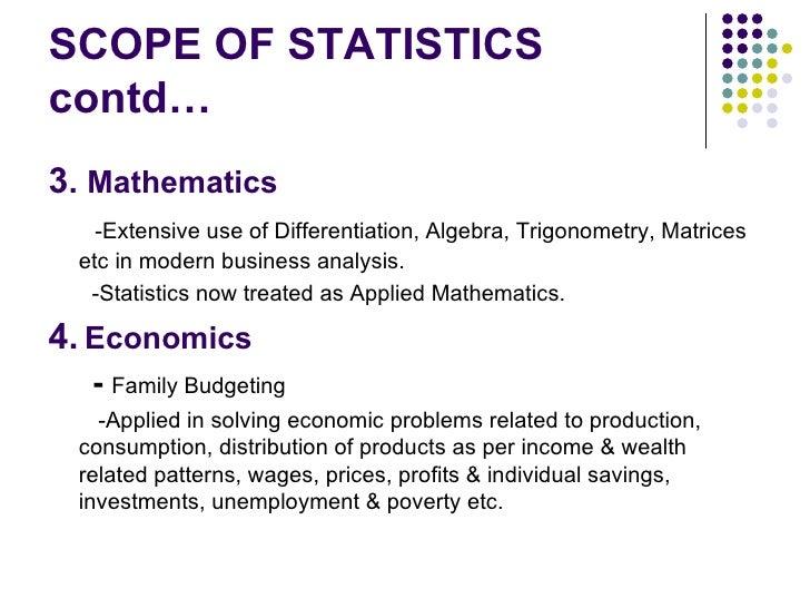 scope of business statistics