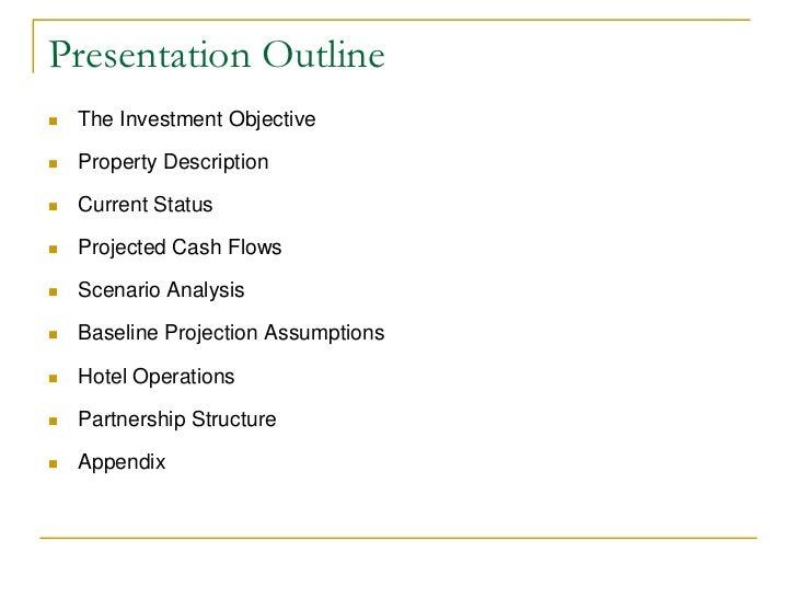 investment proposal presentation