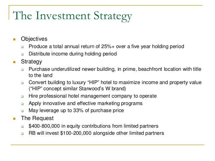 sample investor proposal