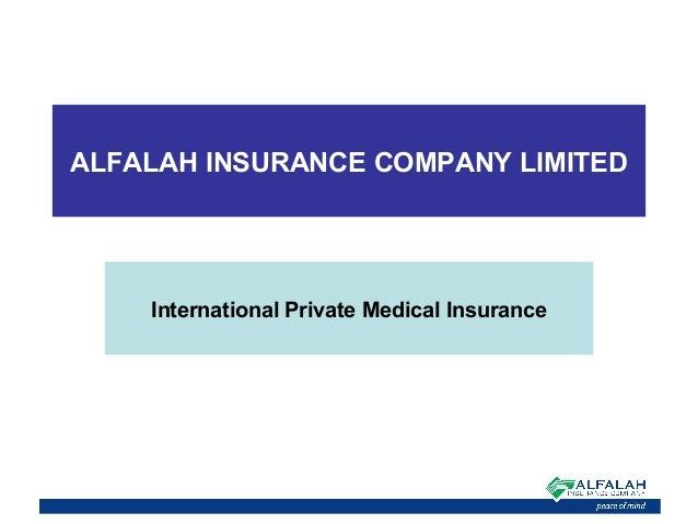 ALFALAH INSURANCE COMPANY LIMITED International Private Medical Insurance