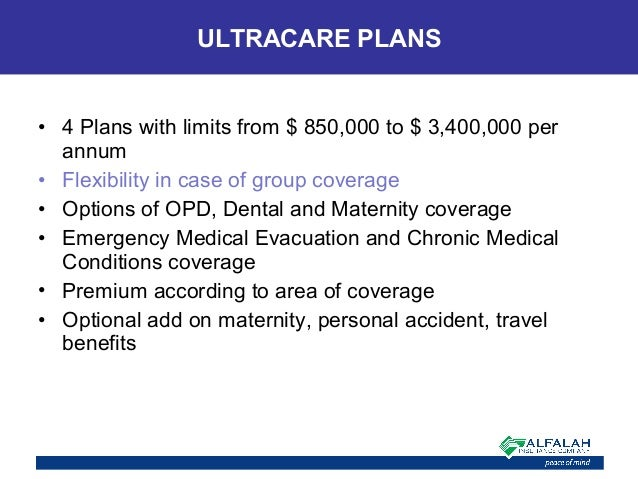 • 4 Plans with limits from $ 850,000 to $ 3,400,000 per annum • Flexibility in case of group coverage • Options of OPD, De...