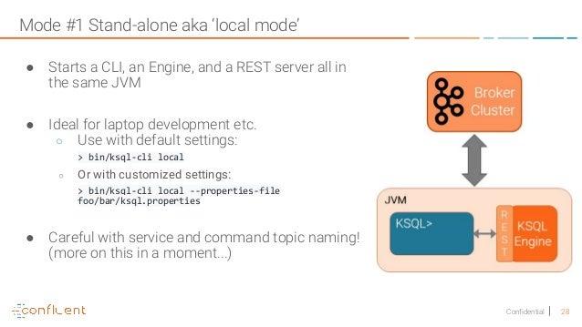 KSQL: Streaming SQL for Kafka