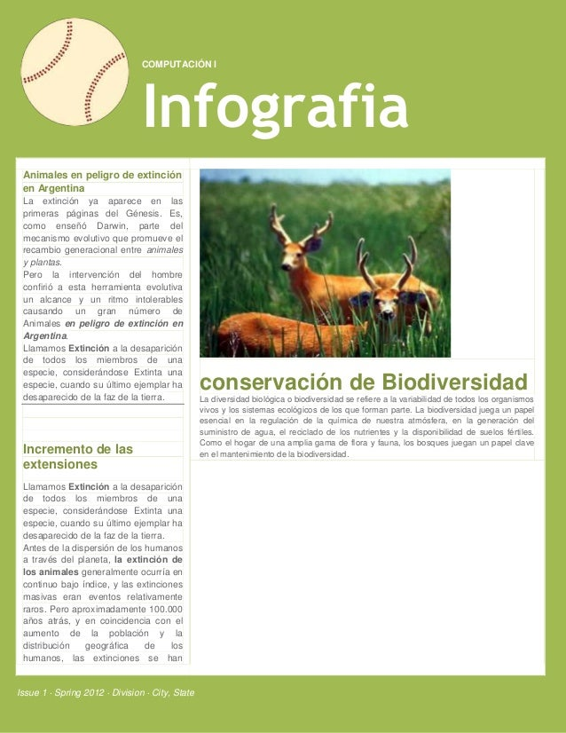COMPUTACIÓN I                                Infografia Animales en peligro de extinción en Argentina La extinción ya apar...