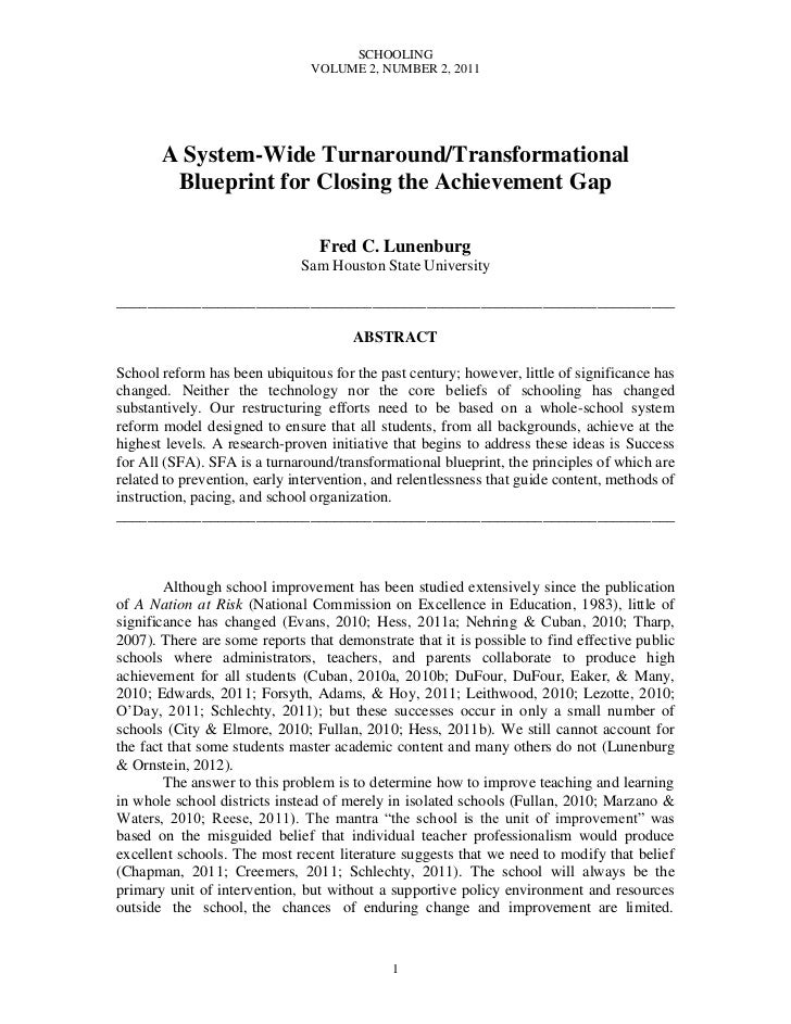 SCHOOLING                                VOLUME 2, NUMBER 2, 2011       A System-Wide Turnaround/Transformational        B...