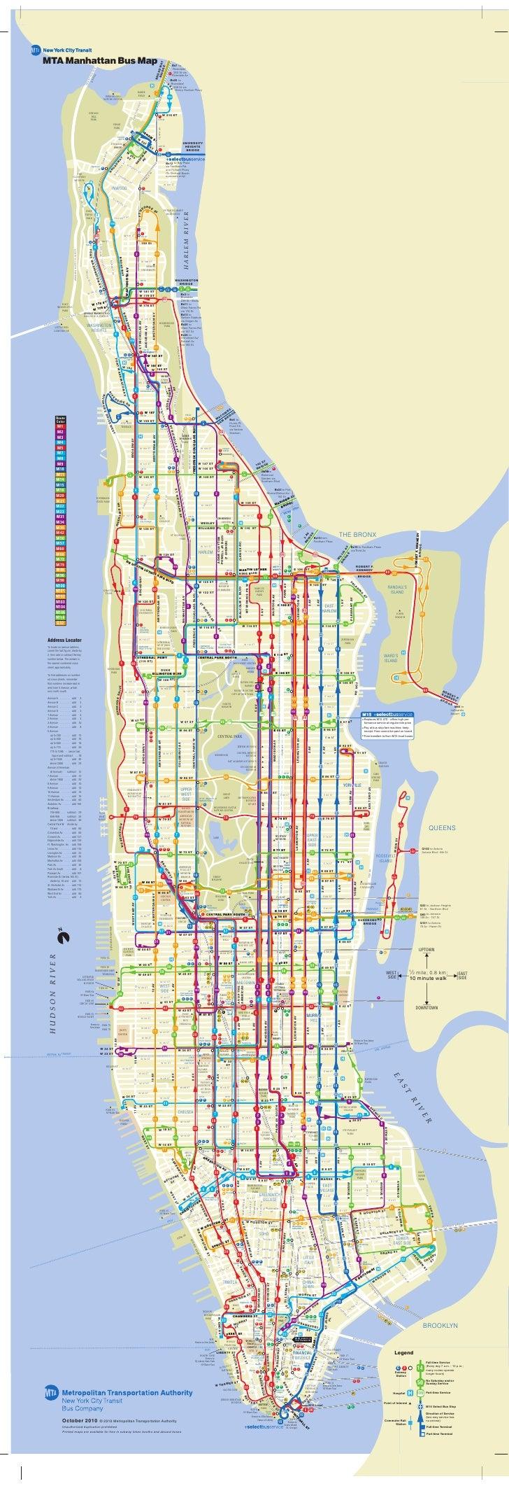 MTA Manhattan Bus Map                                                                                                     ...