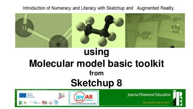 using Molecular model basic toolkit from  Sketchup 8