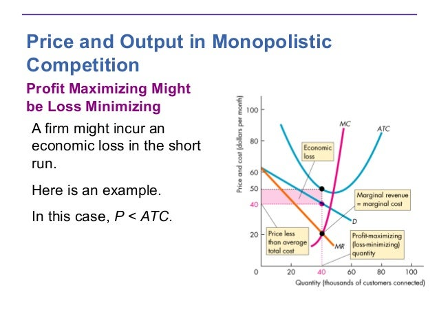 economics mr mc profit maximizing loss minimizing Economic profit = revenue - explicit costs if i can increase my profit by changing how much i produce, then when producing where mr mc can't be profit-maximizing suppose mr mc cost and price minimization in perfect competition.