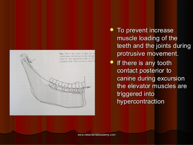  To prevent increaseTo prevent increase muscle loading of themuscle loading of the teeth and the joints duringteeth and t...