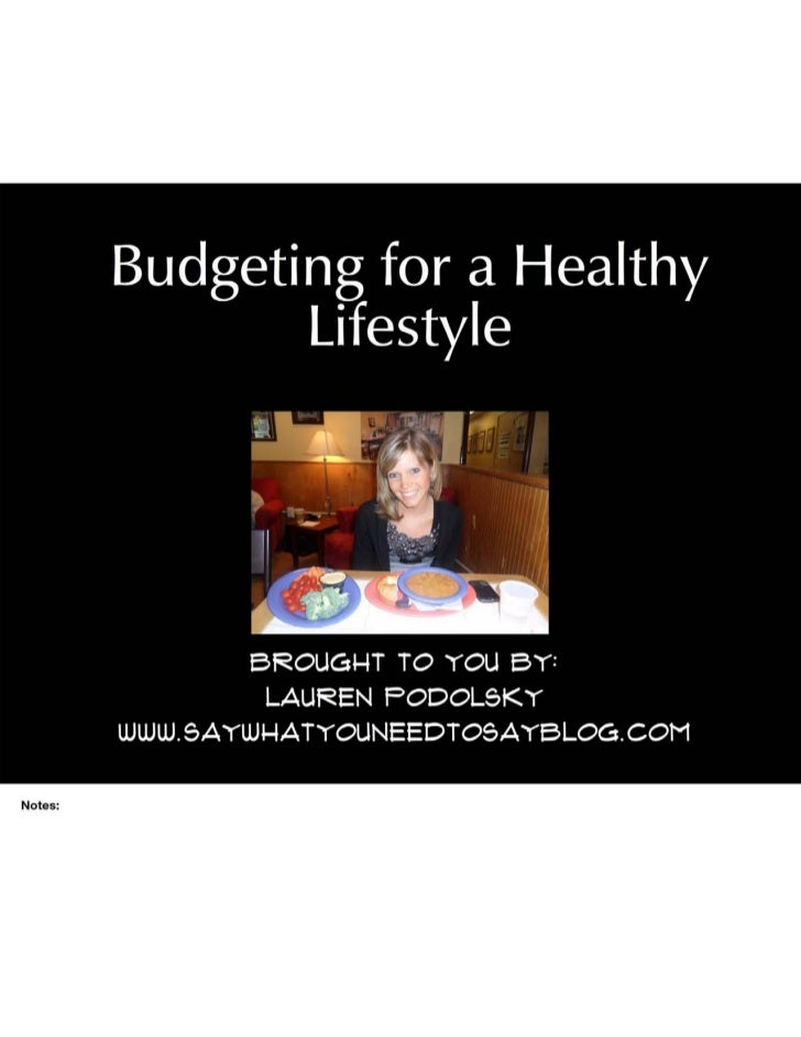 Budgeting For a Healthy Lifestyle