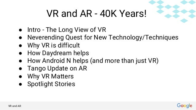 VR, a new technology over 40,000 years old Slide 2