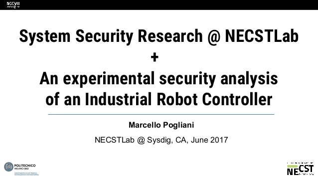System Security Necstlab And Breaking The Laws Of Robotics Attacki