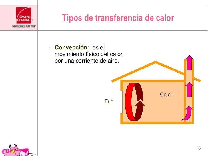 Tipos de transferencia de calor<br />Convección:es el movimientofísico del calorporunacorriente de aire. <br />Calor<br />...