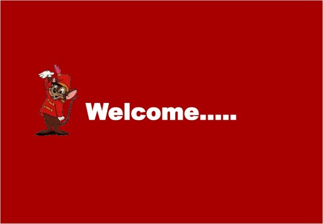 Welcome…..