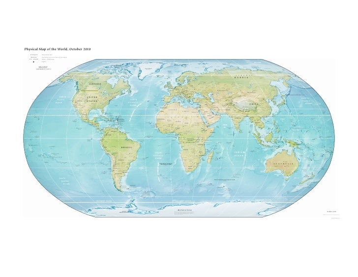 Physical Map of the World, October 2010                    AUSTRALIA                                 Independent state    ...