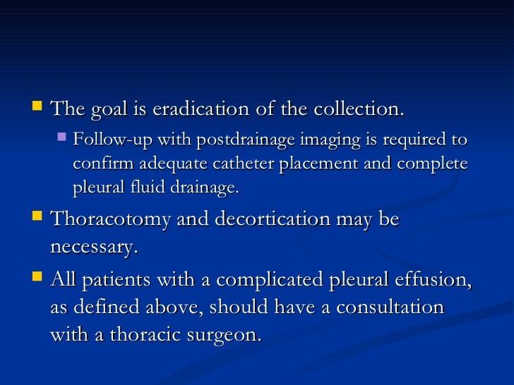 <ul><li>The goal is eradication of the collection.  </li></ul><ul><ul><li>Follow-up with postdrainage imaging is required ...