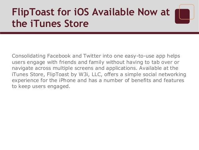 FlipToast for iOS Available Now at the iTunes Store Slide 2